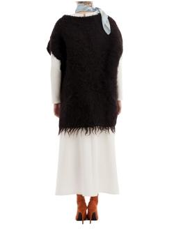 Black Wool Cape