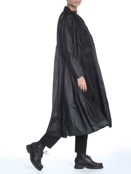 High Waisted Black Trench