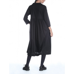 Black Oversized Midi Dress