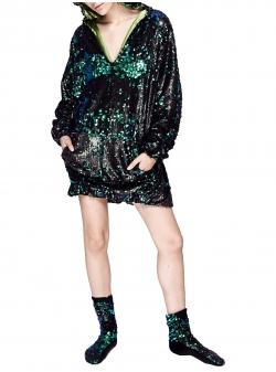 Rochie verde din paiete Chic Utility
