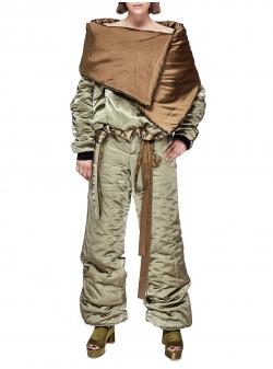 Pantaloni khaki matlasati Chic Utility