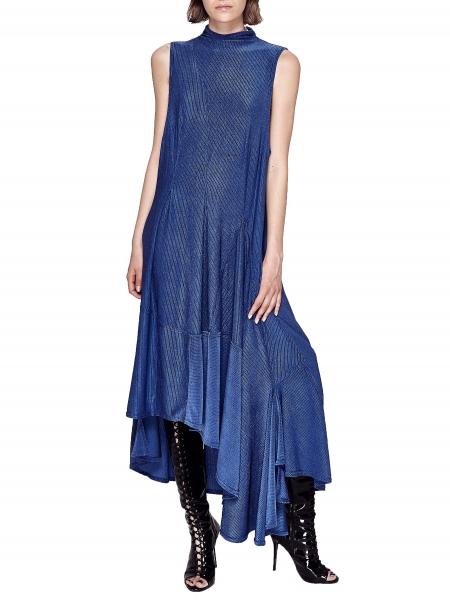 Cobalt Ruffled Dress