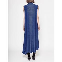 Rochie maxi albastra cu volane Chic Utility