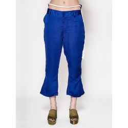 Blue Satin Trousers
