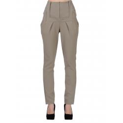 Beige High Waist Trousers