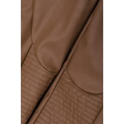 Pantaloni maro din piele sintetica Florentina Giol