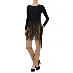 Beige Trousers With Fringes
