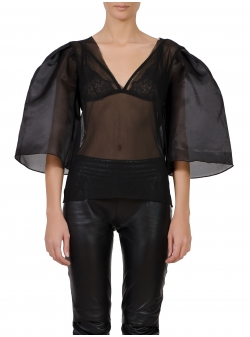 Bluza din tulle cu maneci supradimensionate Florentina Giol