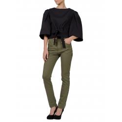 Bluza neagra cu maneci supradimensionate si cordon Florentina Giol