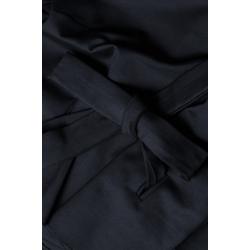 Black Viscose Blouse With Belt