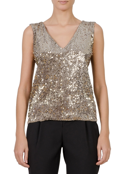 V-neck Sequins Top