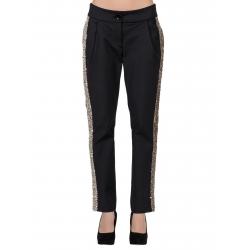 Pantaloni negri cu vipusca aurie din paiete Florentina Giol
