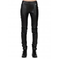 Pantaloni din piele naturala cu fermoar la spate Edita Lupea