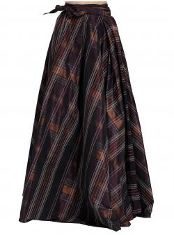 Purple Checked Skirt
