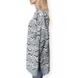 Grey Jacquard Knitted Jumper
