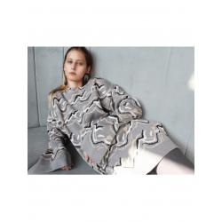 Pulover gri din jacquard tricotat  Constantine - Renakossy