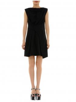 Rochie neagra mini din viscoza Florentina Giol