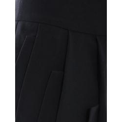 Pantaloni negri din viscoza cu pliuri