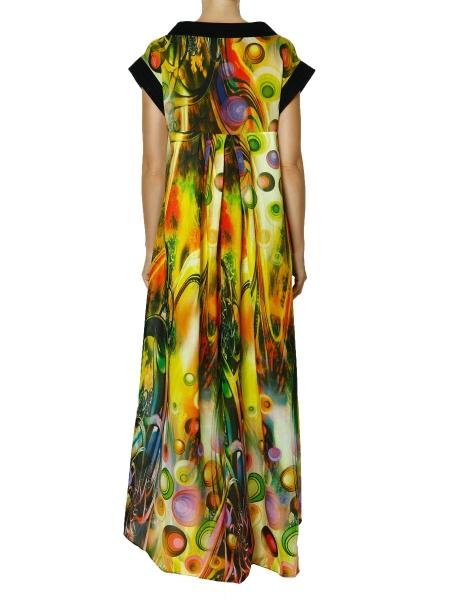 Rochie din bumbac cu imprimeu maxi