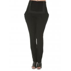 Pantaloni din bumbac cu talie inalta Florentina Giol