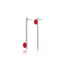 Drop of Red Earrings
