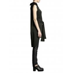 Camasa neagra cu cordon si guler supradimensionat Larisa Dragna