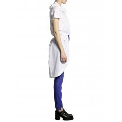 Camasa alba asimetrica cu maneca scurta