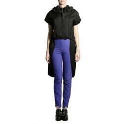 Camasa neagra asimetrica cu maneca scurta