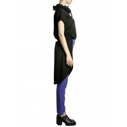 Camasa neagra asimetrica cu maneca scurta Larisa Dragna