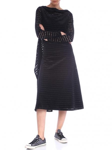 Perforated Velvet Dress