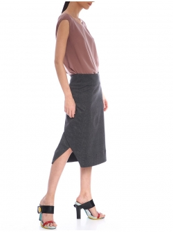 Plaided Tail Skirt