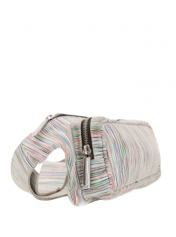Borseta multicolora din piele naturala Sac Bags
