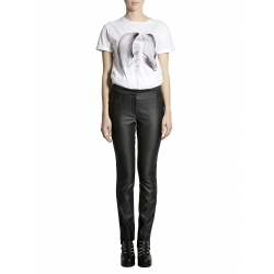 Metallic Black Cotton Trousers