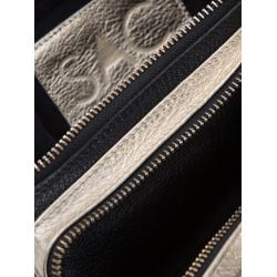 Natural Leather Gold Waist Bag
