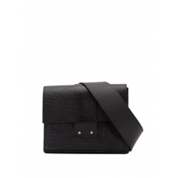 Natural Leather Black Shoulder Bag