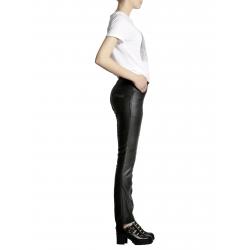 Pantaloni negri metalizati