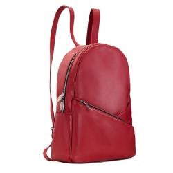 Rucsac rosu din piele naturala Sac Bags