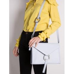 Natural Leather Baby Blue Shoulder Bag