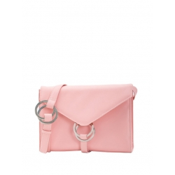 Natural Leather Baby Pink Shoulder Bag