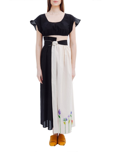 Long Skirt with Handmade Embroidery