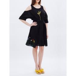 Set rochie si fusta cu detalii brodate Nicoleta Obis