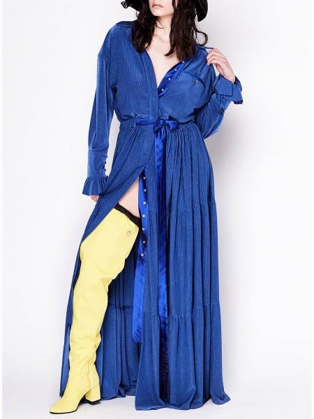 Blue Jersey Maxi Dress