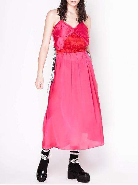 Pink Satin Slipdress