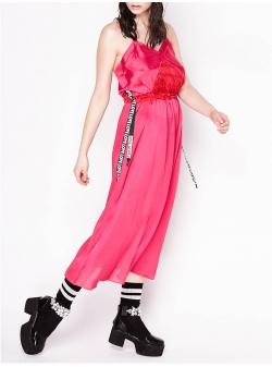 Rochie roz cu bretele ajustabile Chic Utility