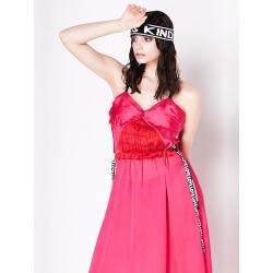 Rochie roz cu bretele ajustabile