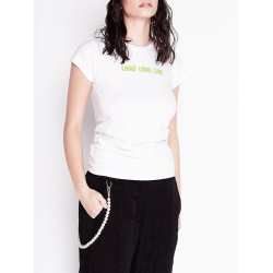 Tricou alb din bumbac Chic Utility