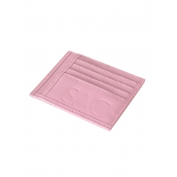 Natural Leather Baby Pink Portcard