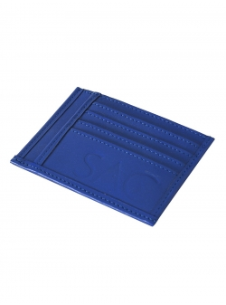 Natural Leather Blue Portcard