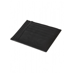 Natural Leather Black Portcard