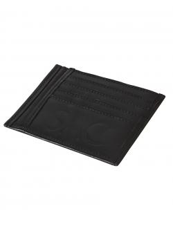 Portcard negru din piele naturala Sac Bags